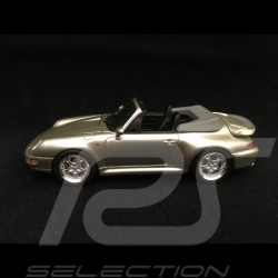 Porsche 911 type 993 Turbo Cabriolet 1/43 Schuco 450887900 gris argent métallisé silver grey metallic silbergrau metallic