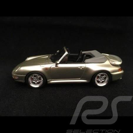 Porsche 911 type 993 Turbo Cabriolet silver grey metallic 1/43 Schuco 450887900