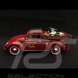 Volkswagen VW Cox Beutler Porsche Service avec moteur Porsche Carrera rouge 1/43 Schuco 450889400