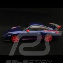 Porsche 911 GT3 RS type 997 phase II 2010 1/43 Minichamps 403069105 aquablue aquablau / rouge red rot