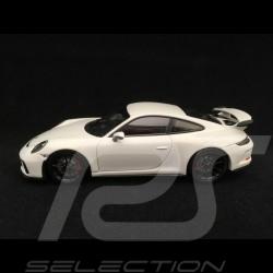 Porsche 911 GT3 type 991 phase II 2017 1/43 Minichamps 413066030 blanc carrara métallisé white weiß