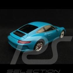Porsche 911 GT3 type 991 Touring Package 2017 bleu Miami 1/43 Spark WAP0201630J bleu Miami blue Miamiblau