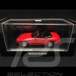 Porsche 968 Cabriolet 1994 rouge 1/43 Minichamps 400062330