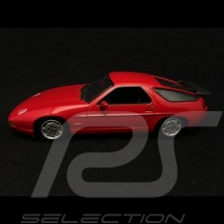 Porsche 928 S4 1991 red 1/43 Minichamps 400062421