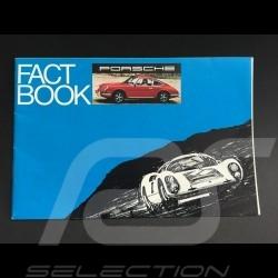 Brochure Broschüre Porsche gamme 1969 en anglais - Fact book