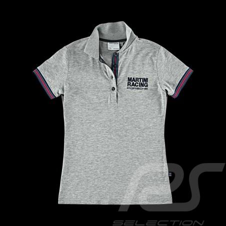Polo Porsche Martini Racing Collection Porsche Design WAP921 - femme / Women / Damen gris grey grau