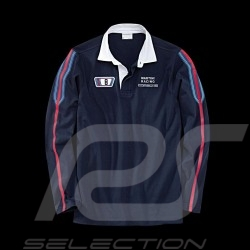 Polo Porsche Rugby manches longues Martini Racing Collection bleu marine Porsche Design WAP552 - homme