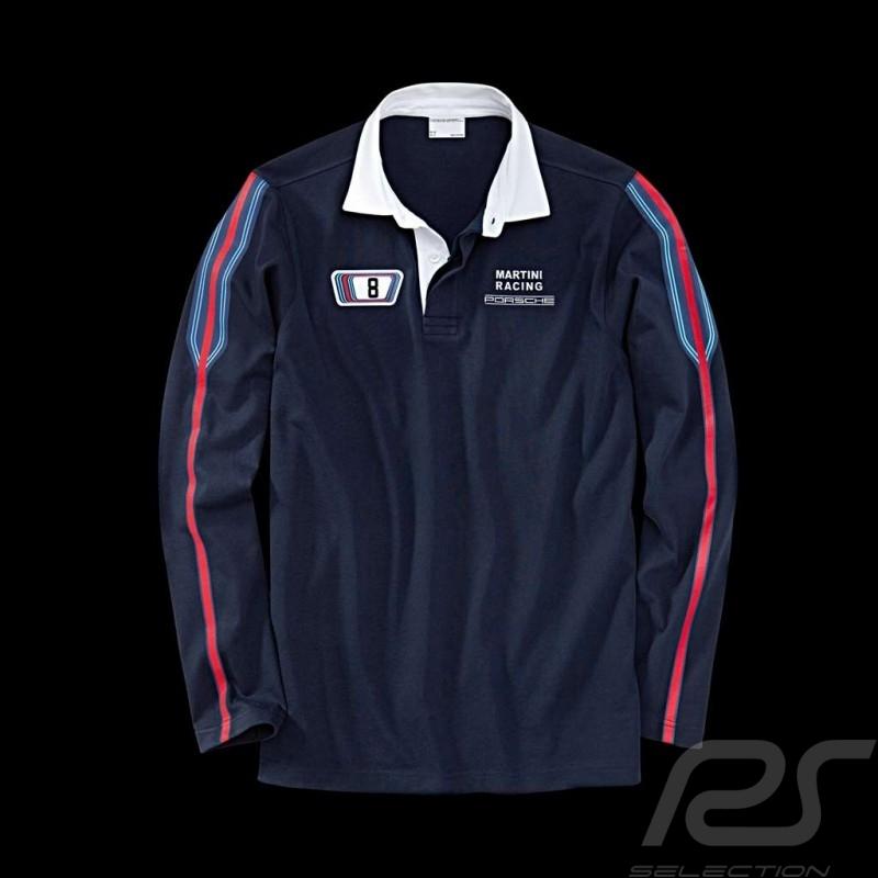 Polo Porsche Rugby long sleeves Martini Racing Collection navy blue Porsche Design WAP552 - Men
