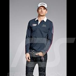 Polo Porsche Rugby manches longues Martini Racing Collection bleu marine Porsche Design WAP552 - homme