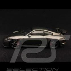 Porsche 911 GT3 type 991 phase II 2017 gris quartz métallisé 1/43 Minichamps 413066033