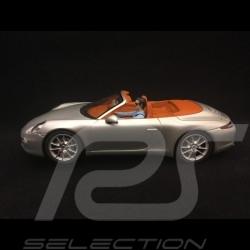 Slot car Porsche 911 Carrera S Cabriolet silver grey metallic  1/32 Carrera 20030773