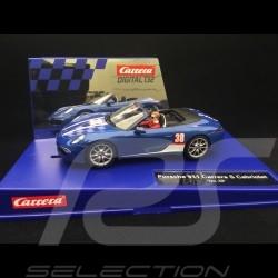 Slot car Porsche 911 Carrera S Cabriolet n° 38 blue 1/32 Carrera 20030789