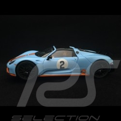 Slot car Porsche 918 Spyder  n° 2 Gulf racing 1/32 Carrera 20030788