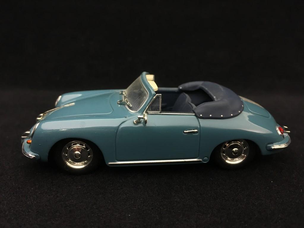 Porsche 356 B Cabriolet 1960 Etna Blue 1 43 Minichamps 400064330 Selection Rs