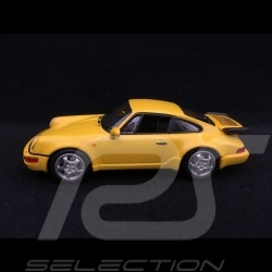 Porsche 911 type 964 Turbo 1990 1/43 Minichamps 940069104 jaune Vitesse Speed yellow Speedgelb