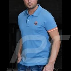 Polo shirt Gulf Classic 50 years Gulf blue - men