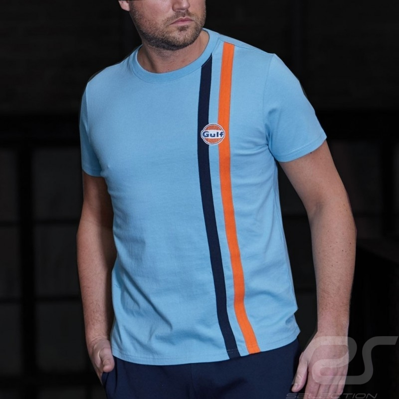 T-shirt Gulf Stripe 50 years Gulf blue - men