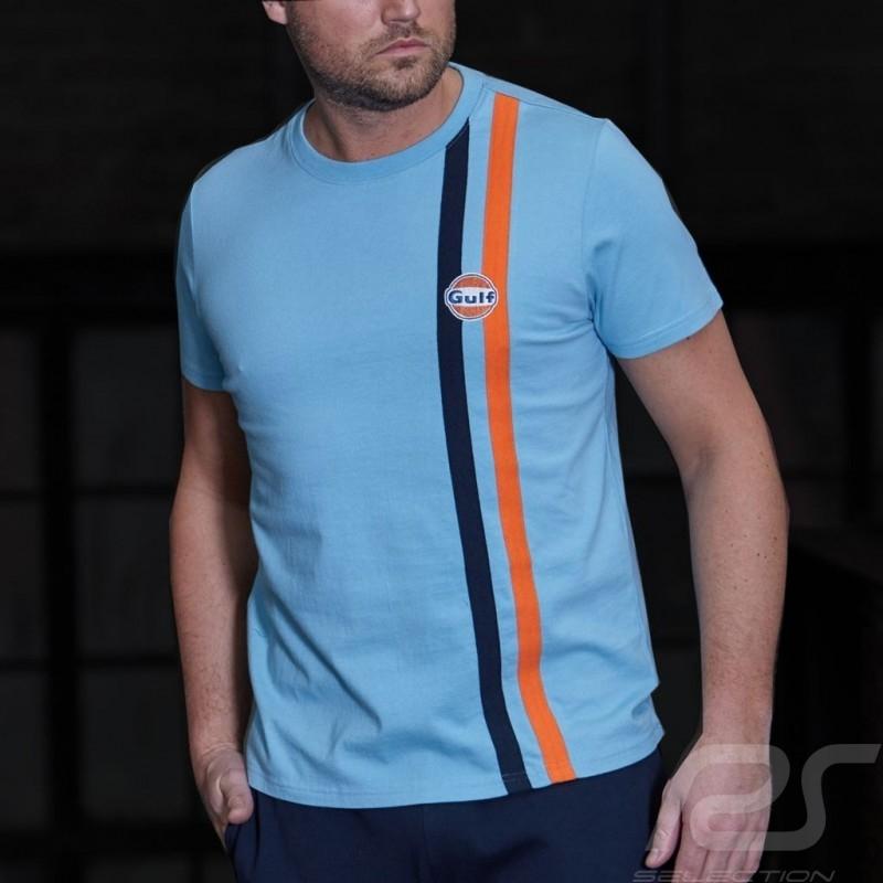 T-shirt Gulf Stripe - homme men herren bleu Gulf blue gulfblau