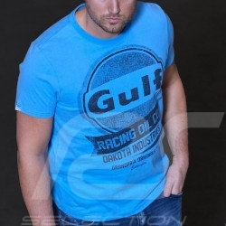 T-shirt Gulf Oil Racing 50 ans - homme men herren Bleu cobalt blue Kobaltblau
