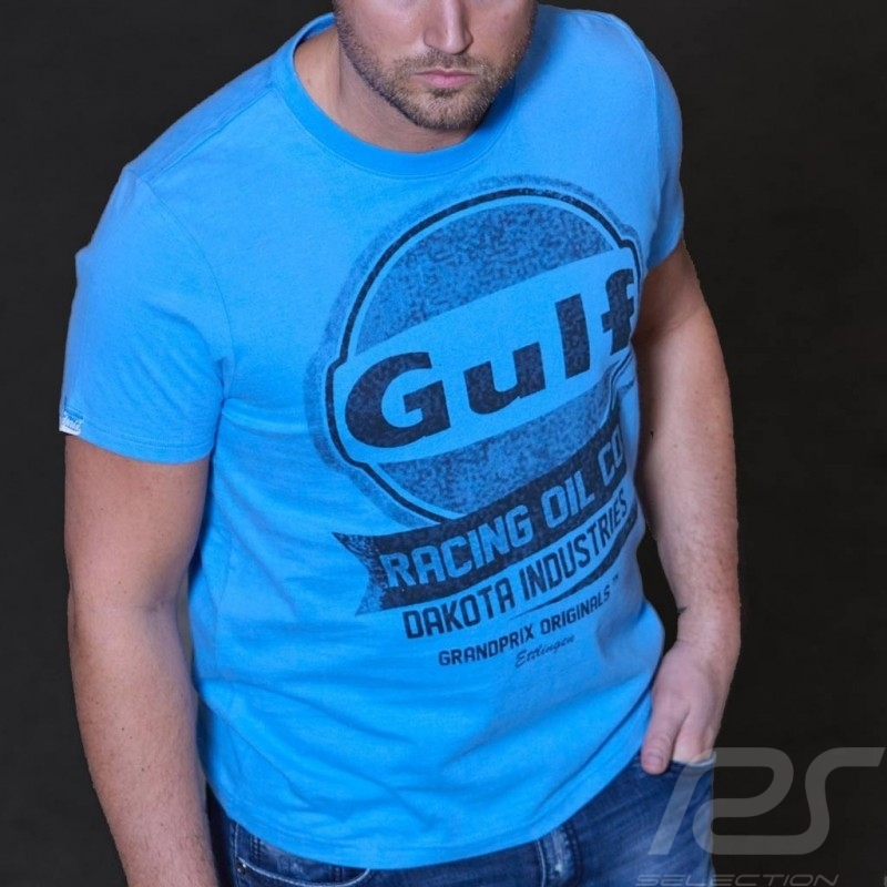 T-shirt Gulf Oil Racing 50 years cobalt blue - Men