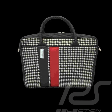 Sac laptop / ordinateur / computer / komputer bag tasche 911 classic pied de poule / vinyl Basketweave