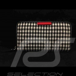 Portefeuille porte-monnaie 911 classic pied de poule Basketweave Wallet money holder Geldbörse Geldhalter