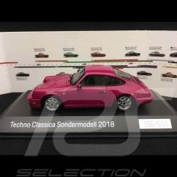 Porsche 964 Carrera 4 Techno Classica 2018 1/43 Spark WAX02020074 Fuchsia ruby Stone Sternrubin