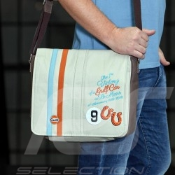 Messenger bag Gulf Le Mans 1968 victory beige leather / fabric