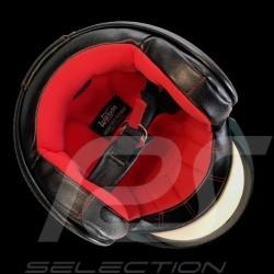 Casque Helmet Helm James Dean n° 130 Little Bastard gris / bande damier