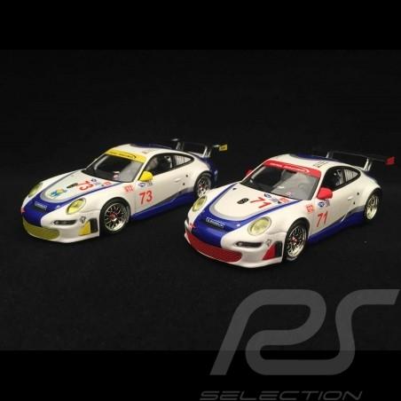 Porsche 911 type 997 GT3 RSR Sebring 2007 n° 71 / n° 73 1/43 Minichamps 400076471 400076473