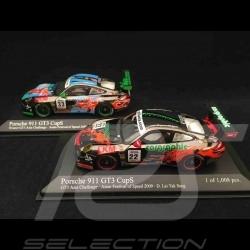 Duo Porsche 911 typ 997 GT3 Cup S GT3 Asia Challenge 2009 1/43 Minichamps 400097933 400097922