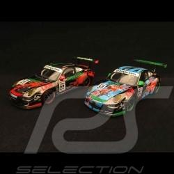 Duo Porsche 911 type 997 GT3 Cup S GT3 Asia Challenge 2009 1/43 Minichamps 400097933 400097922