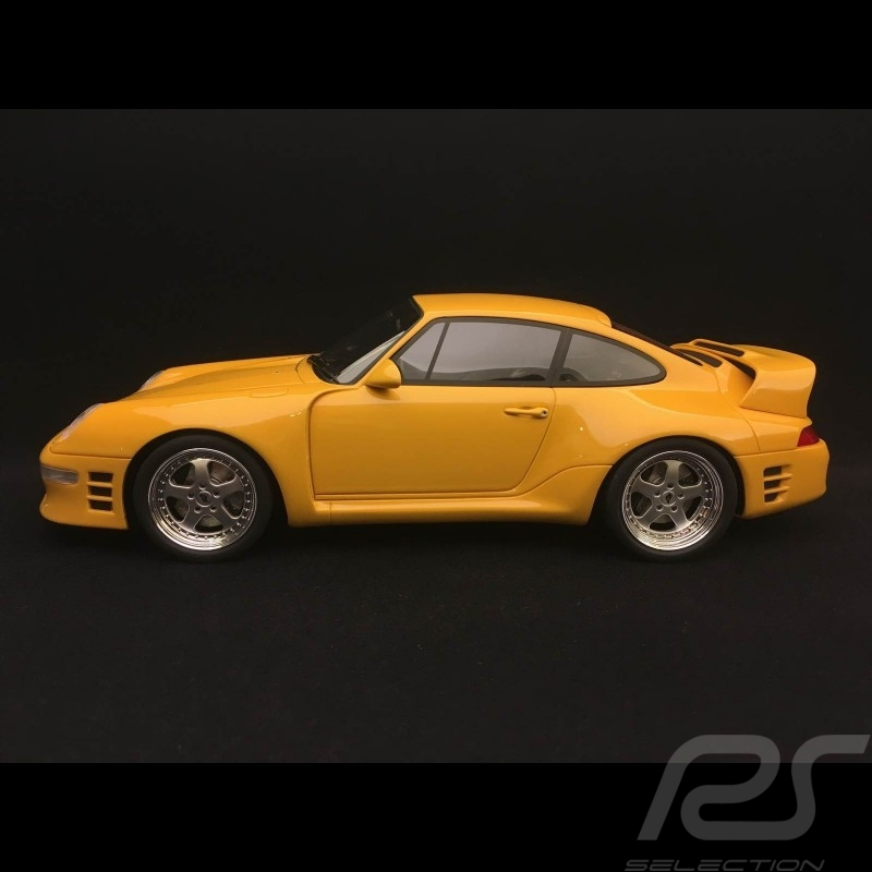 Porsche 911 type 993 RUF CTR 2 Sport 1997 jaune Vitesse 1/18 GT Spirit GT141