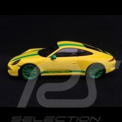 Porsche 911 R type 991 2017 1/43 Spark S4957 jaune Vitesse Speed yellow Speed gelb