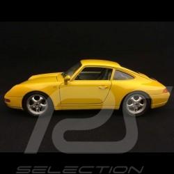 Porsche 911 typ 993 Carrera Coupé 1993 Speed gelb 1/18 Burago 3060