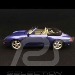Porsche 911 type 993 Carrera Cabriolet 1993 1/18 Burago 3060 bleu Zénith blue Zenith Zenitblau