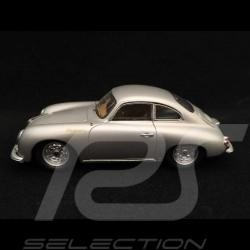 Porsche 356 A T1 1500 GS Carrera 1956 silver grey metallic 1/43 Spark S1356