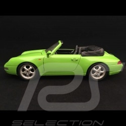 Porsche 911 type 993 Carrera Cabriolet 1994 vert clair 1/18 Burago 3040