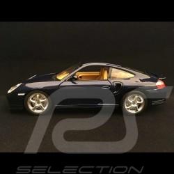 Porsche 911 type 996 Turbo 1999 bleu nuit 1/18 Burago 3367