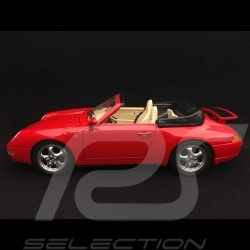 Porsche 911 type 993 Carrera Cabriolet 1994 India red 1/18 Burago 3090