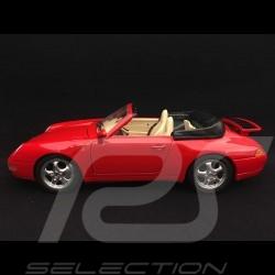 Porsche 911 type 993 Carrera Cabriolet 1994 1/18 Burago 3090 rouge Indien India red Indischrot