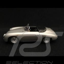 Porsche 356 A 1600 GS Carrera GT Speedster 1959 silver grey 1/43 Spark S1355