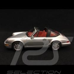 Porsche 911 type 964 Targa 1989 gris argent 1/43 Minichamps WAP007