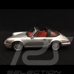 Porsche 911 type 964 Targa 1989 silver grey 1/43 Minichamps WAP007