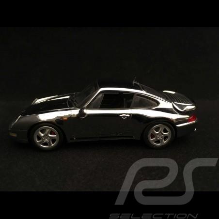 Porsche 911 type 993 Turbo 1995 chrome 1/43 Minichamps WAP02060616