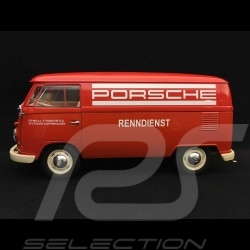 VW combi T1 transporteur Porsche Bully 1963 1/18 Welly 18053W service course rouge racing service red Renndienst rot