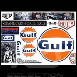 Planche autocollants Gulf / Heuer / Grand Prix / Spirit of Racing