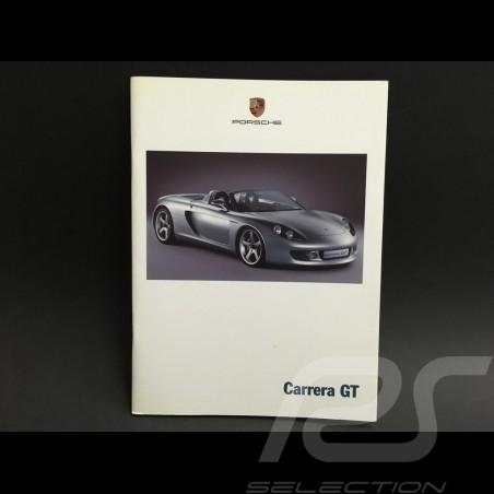 Brochure Porsche Carrera GT 2000 ref WVK178812 en anglais et allemand in english and german in Englisch und deutsch