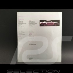 Brochure Porsche 959 septembre 1985 ref WVK122610 en allemand german deutsch