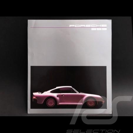 Brochure Porsche 959  septembre 1985 ref WVK122610 en allemand german deutsch